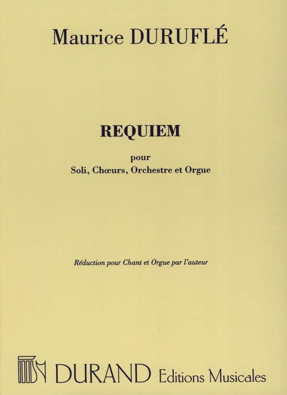 Maurice Duruflé - Requiem Opus 9 Choeur et Orgue - Partition - di-arezzo.fr