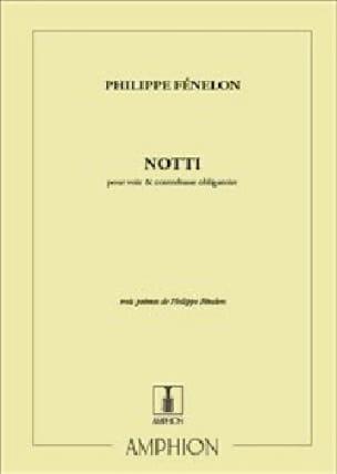 Notti - Philippe Fénelon - Partition - Contrebasse - laflutedepan.com