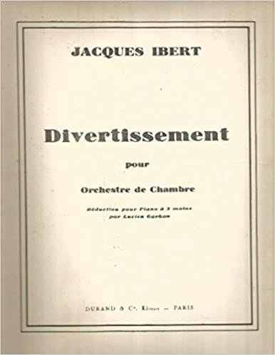 Jacques Ibert - Entertainment - Partition - di-arezzo.co.uk