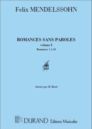 MENDELSSOHN - Romances Without Words Volume 1 - Partition - di-arezzo.co.uk