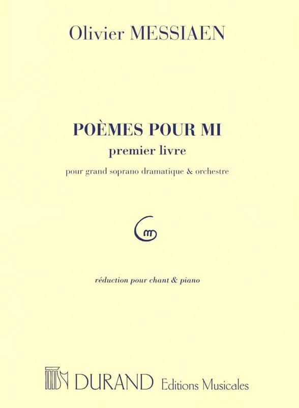 Poèmes Pour Mi. 1er livre - Olivier Messiaen - laflutedepan.com