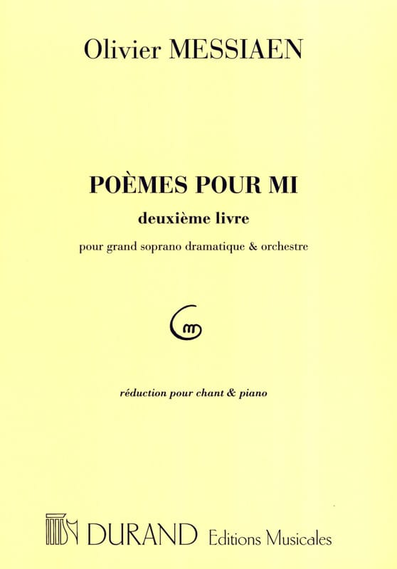 Olivier Messiaen - Poems For Mi 2nd book - Partition - di-arezzo.co.uk