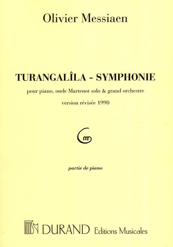 Turangalîla-Symphonie. Piano Solo - MESSIAEN - laflutedepan.com