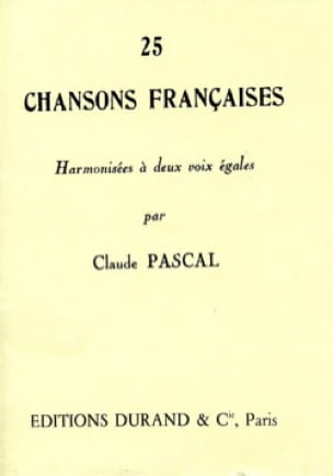 25 Chansons Françaises. 2 Voix Egales - laflutedepan.com