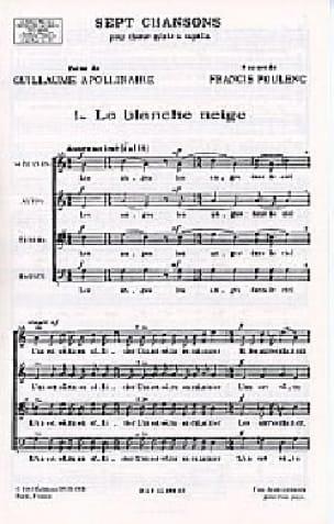 La Blanche Neige - POULENC - Partition - Chœur - laflutedepan.com