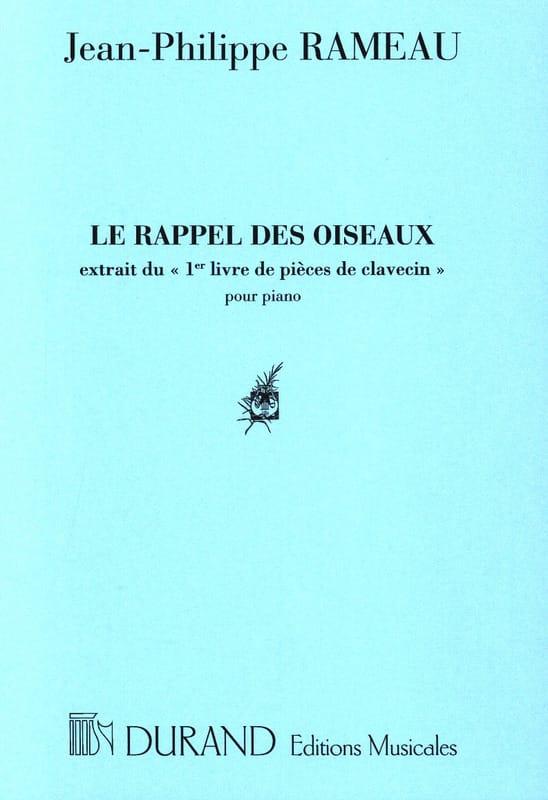 Le Rappel des Oiseaux - RAMEAU - Partition - Piano - laflutedepan.com