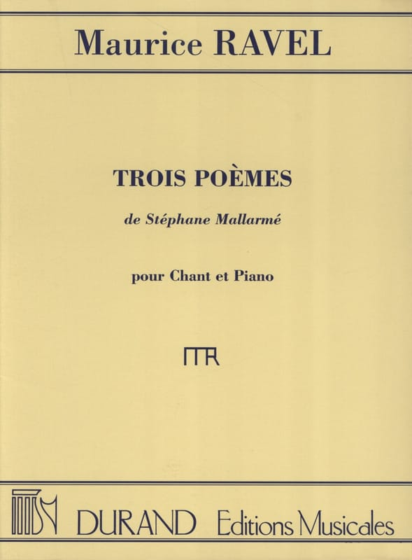 Maurice Ravel - 3 Poems of Mallarmé - Partition - di-arezzo.com