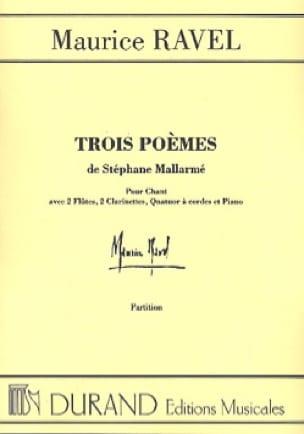 Maurice Ravel - 3 Poems of Mallarmé. Equipment - Partition - di-arezzo.co.uk