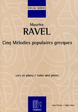 Maurice Ravel - 5 Popular Greek Melodies. Aloud - Partition - di-arezzo.com