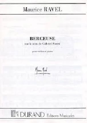 Berceuse sur le Nom de Fauré. Piano - RAVEL - laflutedepan.com