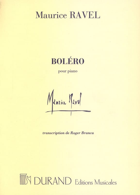Boléro - RAVEL - Partition - Piano - laflutedepan.com
