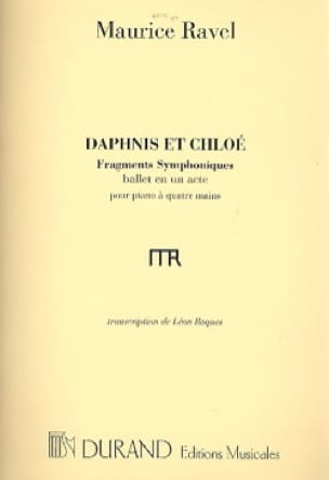 Maurice Ravel - Daphnis and Chloé 1st Series. 4 Hands Or 2 Pianos. - Partition - di-arezzo.co.uk