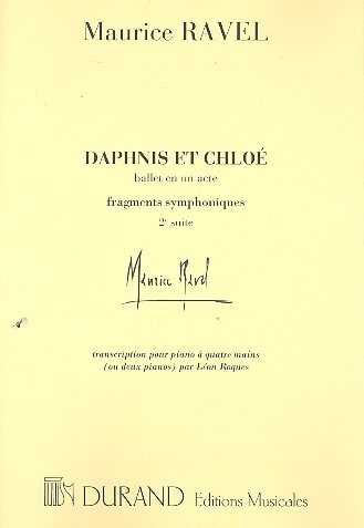 Maurice Ravel - Daphnis and Chloé 2nd Series. 4 Hands Or 2 Pianos. - Partition - di-arezzo.co.uk