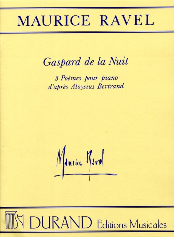Maurice Ravel - Gaspard of the night - Partition - di-arezzo.com