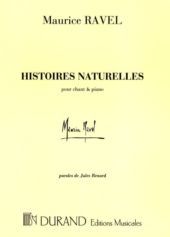 Maurice Ravel - Natural Stories - Partition - di-arezzo.com