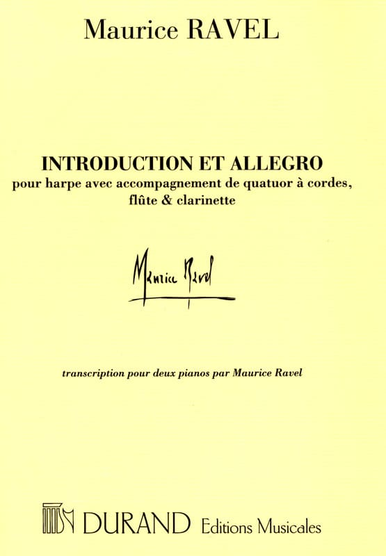 Maurice Ravel - Introduction and Allegro. 2 Pianos - Partition - di-arezzo.co.uk