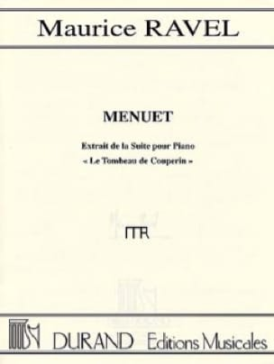Menuet Du Tombeau de Couperin - RAVEL - Partition - laflutedepan.com