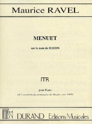 Maurice Ravel - Menuet on the name of HAYDN - Partition - di-arezzo.co.uk