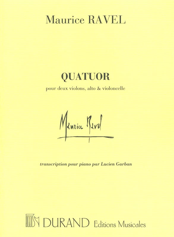 Quatuor A Cordes - RAVEL - Partition - Piano - laflutedepan.com