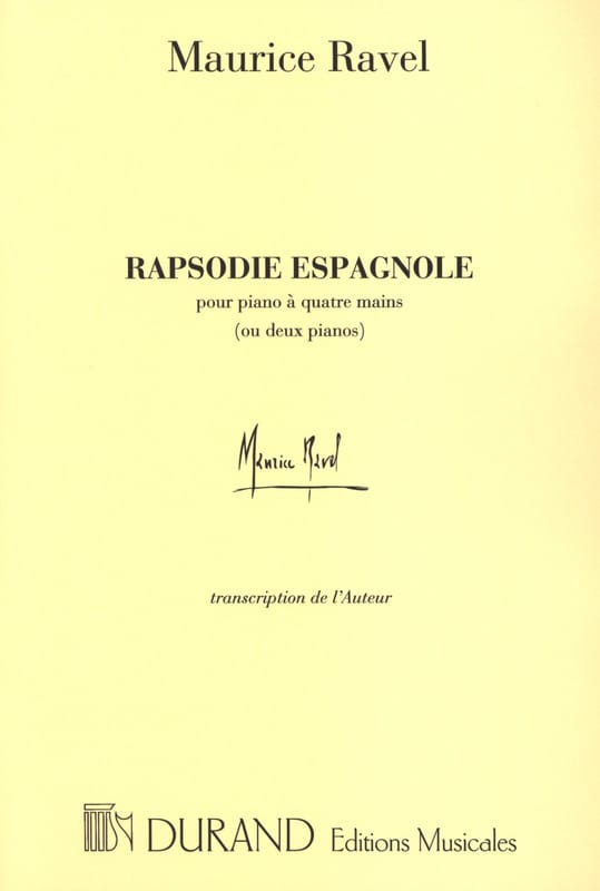 Maurice Ravel - Spanish Rhapsody. 4 Hands Or 2 Pianos - Partition - di-arezzo.co.uk