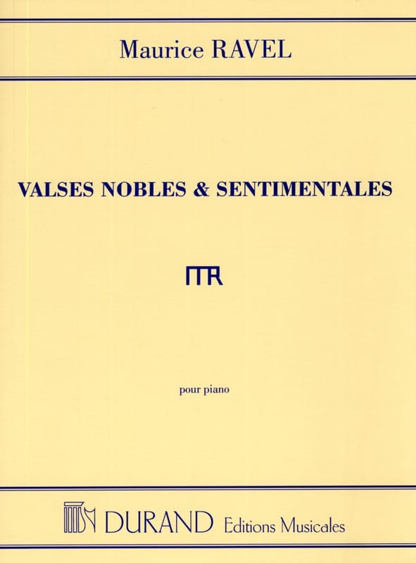 Maurice Ravel - Noble and Sentimental Waltzes - Partition - di-arezzo.co.uk