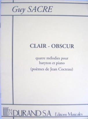 Clair-Obscur - Guy Sacre - Partition - Mélodies - laflutedepan.com