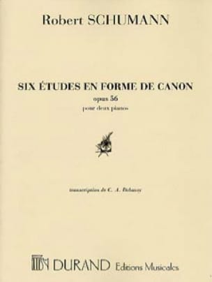 SCHUMANN - 6 Shaped Studies of Canon Opus 56. 2 Pianos. - Partition - di-arezzo.co.uk