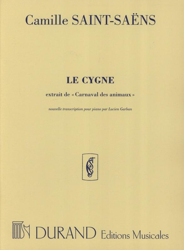 Camille Saint-Saëns - Le Cygne. Piano - Partition - di-arezzo.fr