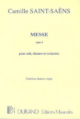 Messe Opus 4 - SAINT-SAËNS - Partition - Chœur - laflutedepan.com