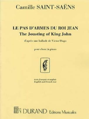 Camille Saint-Saëns - The Weapon Of King John. Mean Voice - Partition - di-arezzo.co.uk