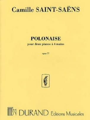Polonaise Opus 77 - SAINT-SAËNS - Partition - Piano - laflutedepan.com