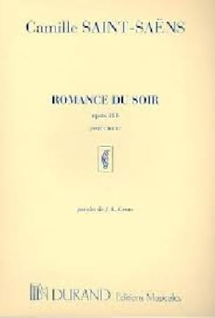 Camille Saint-Saëns - Romance Du Soir Opus 118 Choir - Partition - di-arezzo.co.uk