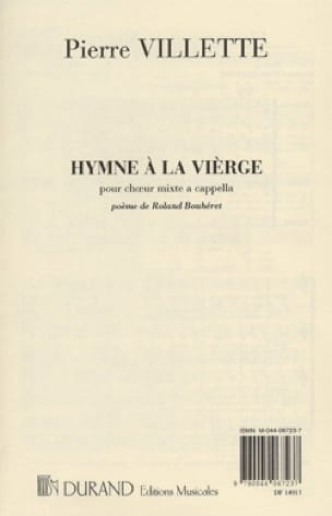 Hymne A la Vierge. - Pierre Villette - Partition - laflutedepan.be