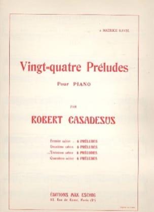 Robert Casadesus - 24 Preludes Piano Volume 3 - Partition - di-arezzo.co.uk