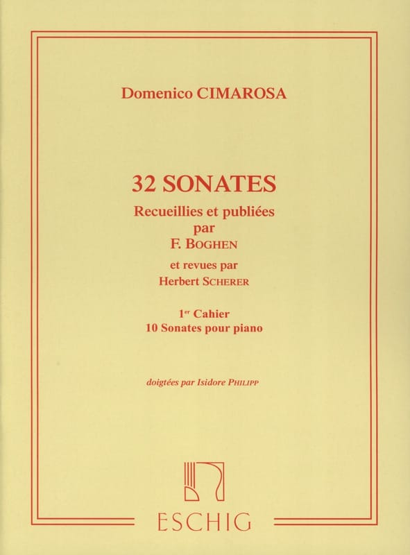 Domenico Cimarosa - 32 Sonatas Volumen 1 - Partition - di-arezzo.es