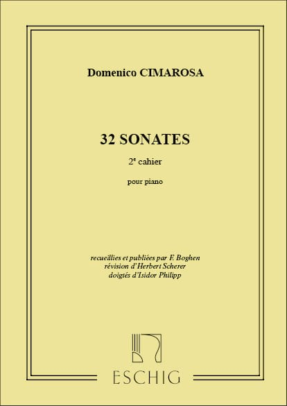 Domenico Cimarosa - 32 Sonatas Volumen 2 - Partition - di-arezzo.es