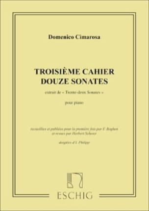 Domenico Cimarosa - 32 Sonatas Volumen 3 - Partition - di-arezzo.es