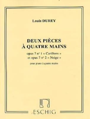 2 Pièces - Louis Durey - Partition - Piano - laflutedepan.com