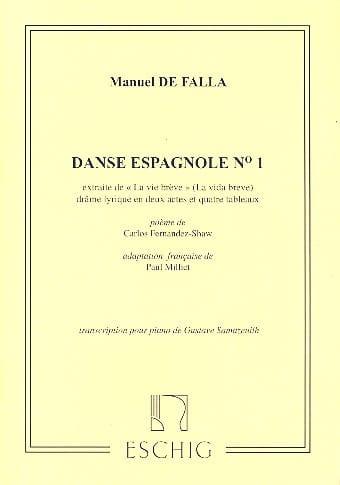 DE FALLA - 2 danzas españolas. n ° 1 - Partition - di-arezzo.es