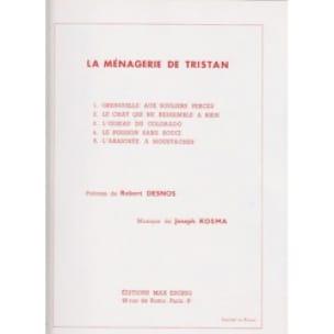 Joseph Kosma - The Menagerie of Tristan - Partition - di-arezzo.co.uk