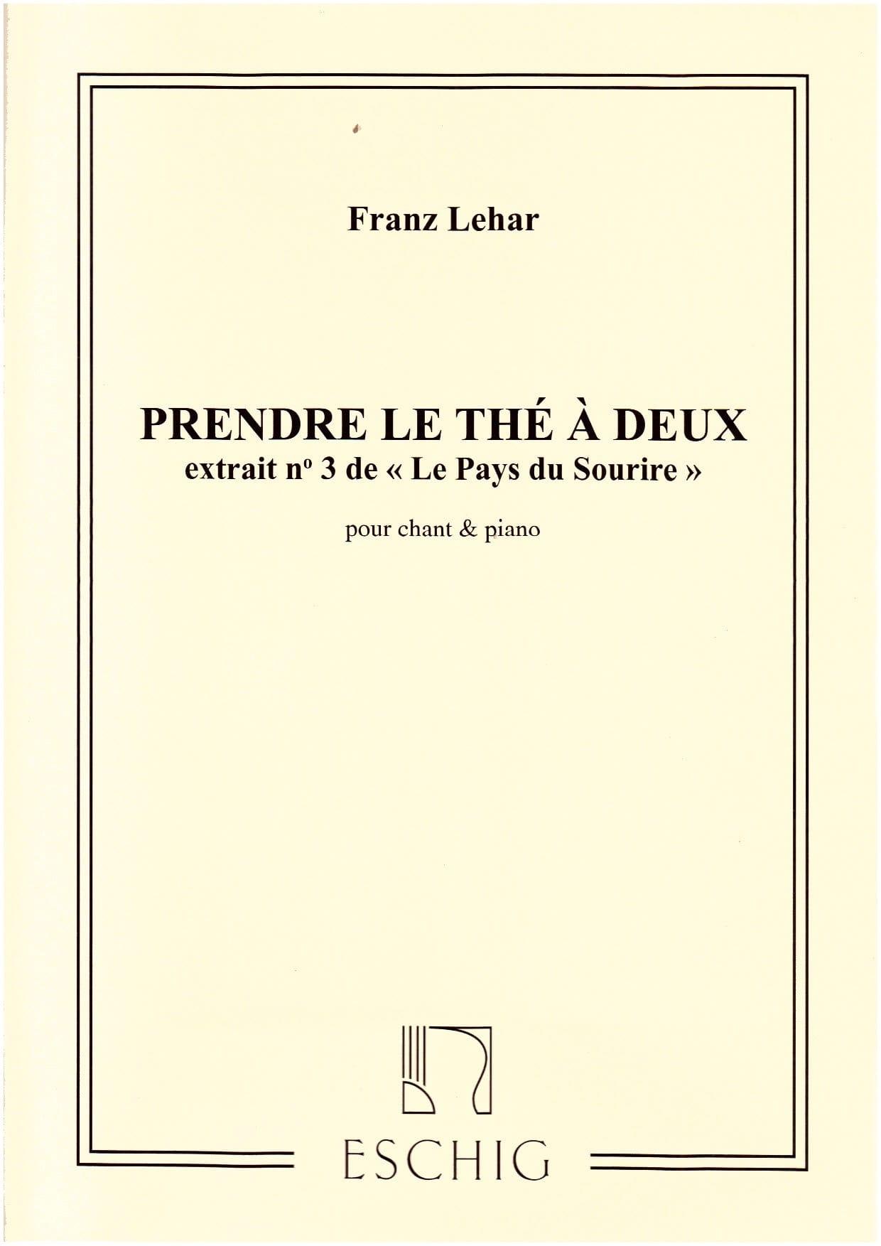 Franz Lehar - Take Tea A 2. The Land Of Smile - Partition - di-arezzo.co.uk