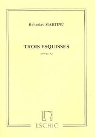 Bohuslav Martinu - 3 Sketches - Partition - di-arezzo.co.uk
