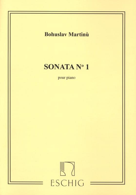 Sonate n° 1 - Bohuslav Martinu - Partition - Piano - laflutedepan.com