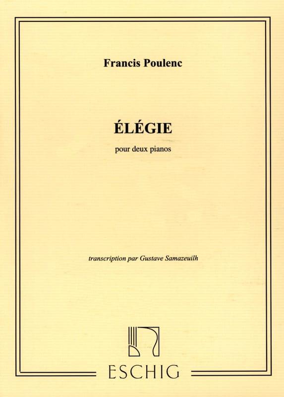 Elégie - 2 Pianos - POULENC - Partition - Piano - laflutedepan.com