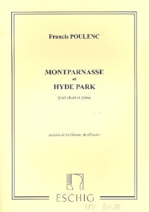 Francis Poulenc - Montparnasse / Hyde Park. - Partition - di-arezzo.es