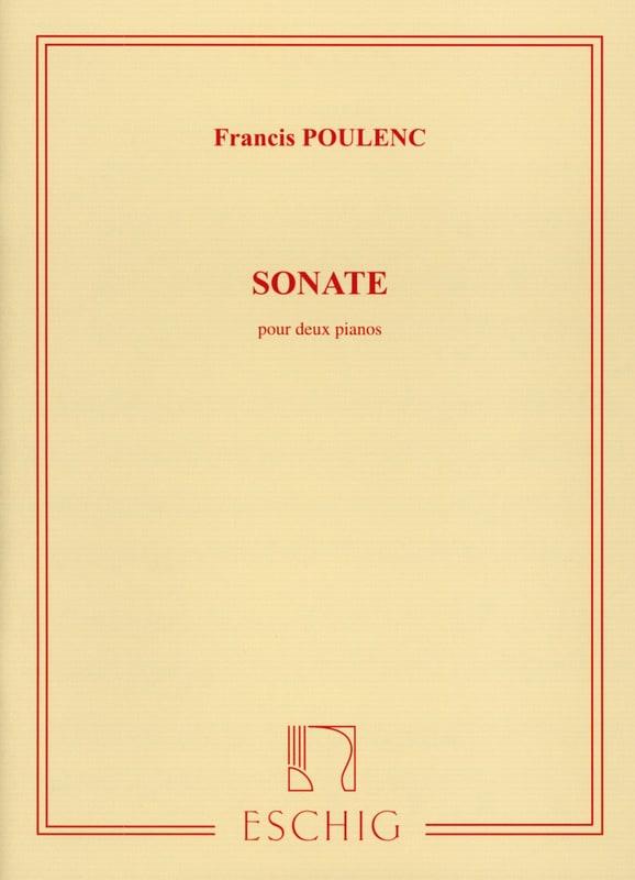 Francis Poulenc - Sonata For 2 Pianos - Partition - di-arezzo.co.uk