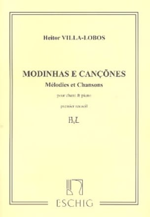 Heitor Villa-Lobos - Modinhas E Cancoes. Volume 1 - Partition - di-arezzo.co.uk