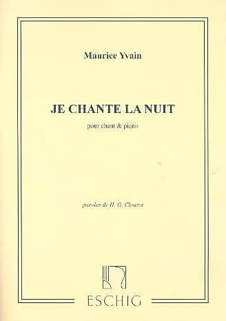 Je Chante la Nuit - Maurice Yvain - Partition - laflutedepan.com