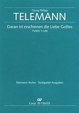 TELEMANN - Daran Ist Erschienen The Liebe Gottes - Partition - di-arezzo.co.uk
