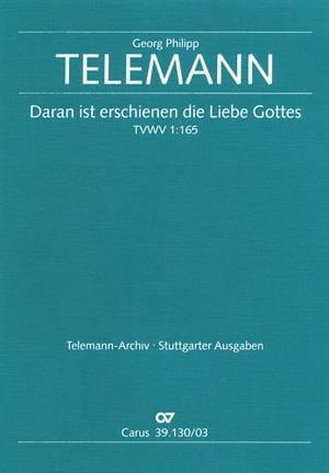 TELEMANN - Daran Ist Erschienen The Liebe Gottes - Partition - di-arezzo.co.uk